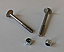 Pair of M5 x 45mm carriage bolts with Nyloc nuts