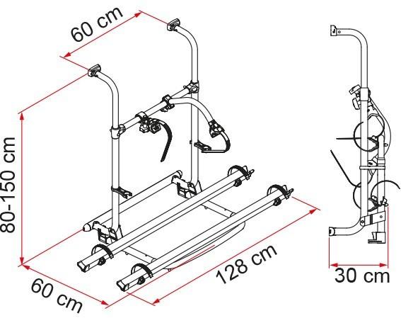 Fiamma Carry Bike Pro dimensions