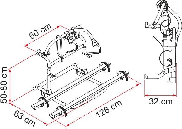 Fiamma Carry Bike Pro C dimensions