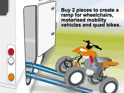 2 Carry-Moto can also be used for mounting quadbikes in your motorhome