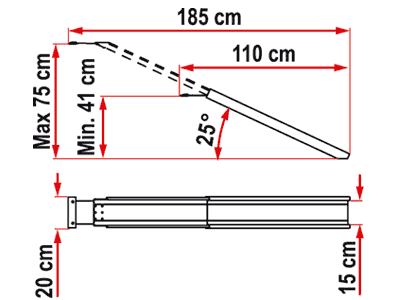 Carry-Moto adjustable length ramp