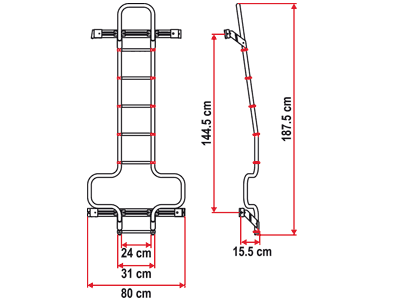 Fiamma Deluxe DJ ladder sizes