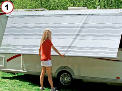 Caravanstore is a rool out caravan awning canopy