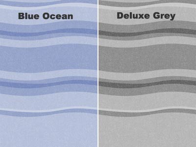 Blue Ocean and Deluxe Grey colour options available