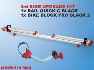 Upgrade kit to allow Fiamma Backpack to carry three bikes