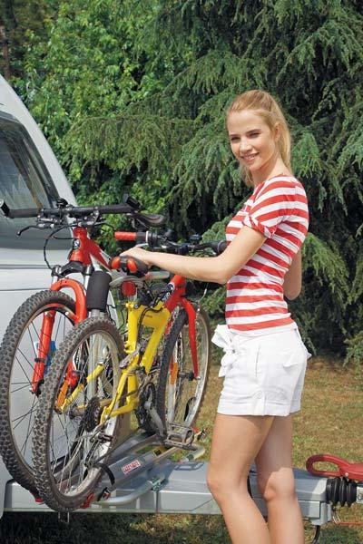 Front mounting caravan bike rack