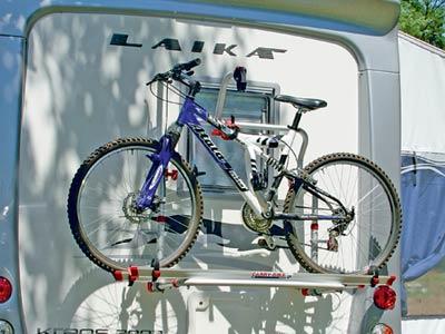 Rear mounted bike rack for Laika motorhomes