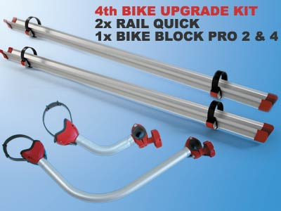 Fiamma Carry-Bike Lift can be upgraded to carry upto 4 bikes