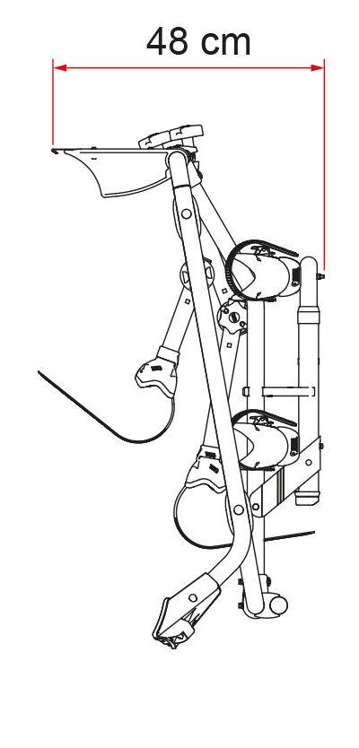 Closed dimensions of VW T5 Pro bike rack