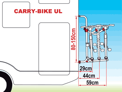 Fiamma Carry-Bike UL dimensions