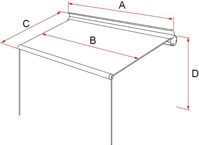 Fiamma F35 Pro canopy dimensions