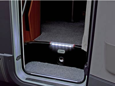 Light suitable for interior or exterior caravan steps
