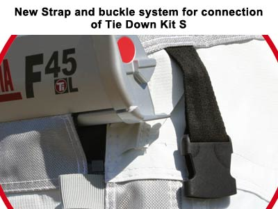 Side walls have intergrated straps for use with Tie Down Kit S