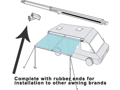 Fiamma Awning Rafter can beinstalled on other awning brands