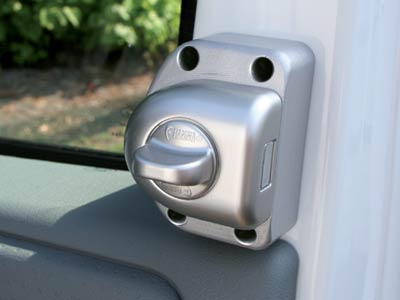 Unobtrusive security lock for Ford Transit