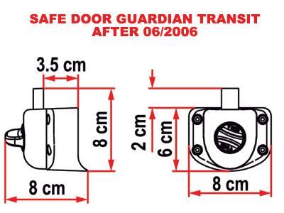 Fiamma Safe Door security lock for newer Ford Transit