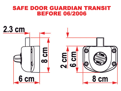 Fiamma Safe Door lock for older Ford transit