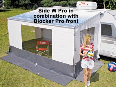 Side W Pro and Blocker Pro can make an enclosed awning