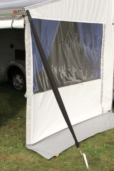 Strong awning tie down kit secures your awning