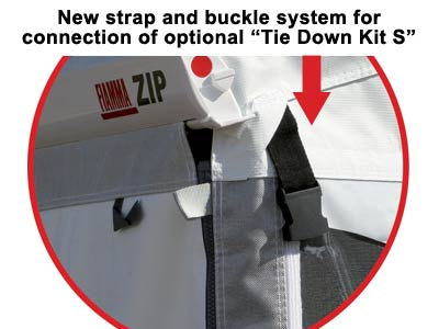 Integrated strap for use with Fiamma Tie Down Kit S