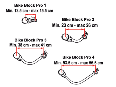 Fiamma Bike Block Pro Dimensions
