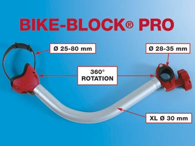 Adjustable clamp size for larger and small bike frames