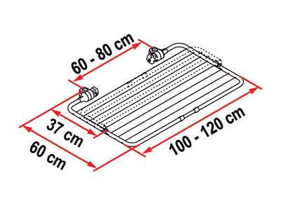 Fiamma Carry-Bike Easy Dry dimensions
