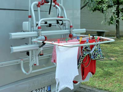 Drying rack to fit on rear of Fiamma Carry Bike