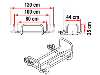 Fiamma Kit Carry Box Pro Dimensions