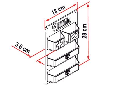 Fiamma Pocket Kassett Dimensions