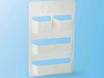 4 pocket plastic storage unit
