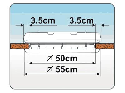 Fiamma Vent 50x50 dimensions