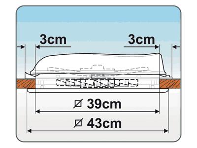 Fiamma Vent 40 rooflight sizes