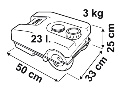 Fiamma Roll Tank Waste Dimensions