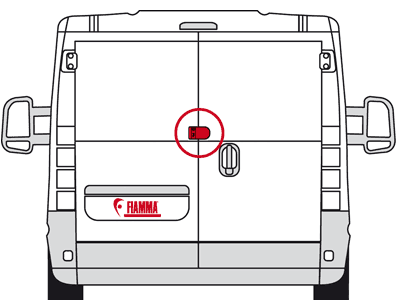 Kit to adapt Fiamma Safe Door for use with double rear doors
