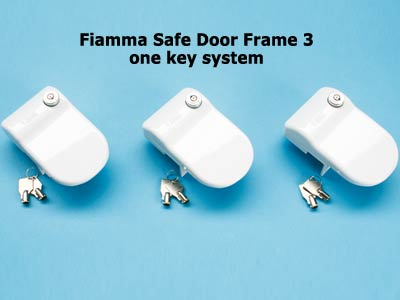 Available as a 3 lock system using the same key