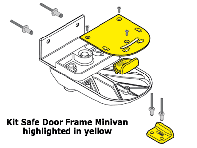 Optional kit for use with Safe Door Frame on sliding doors
