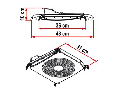 Fiamma Vent Turbo Kit Fan sizes