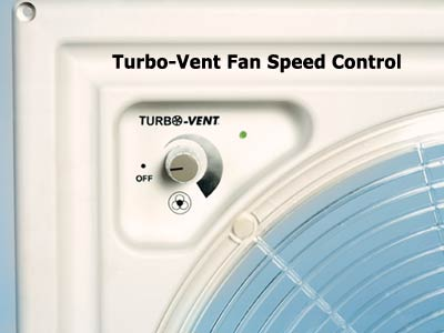 Variable control of vent fan speed