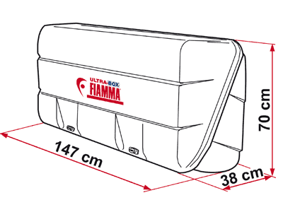 Fiamma rear storage box with extra large dimensions