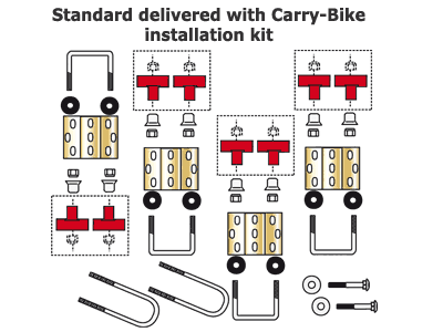 Carry-Bike fixing kit supplied as standard
