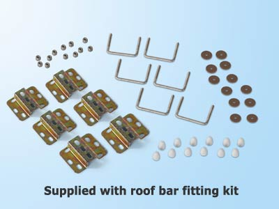 Supplied with motorhome roof bar fixing kit