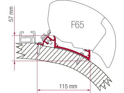 Fiamma Adapter F65 Carthago Chic