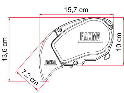 Fiamma F65 S Motorhome Awning - Polar White Case