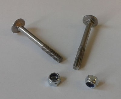 Carriage Bolts Pair - M5 x 50mm