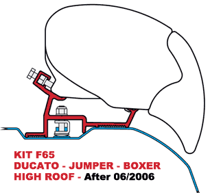 F65 Kit Ducato, Jumper & Boxer High Roof Aft 06-2006