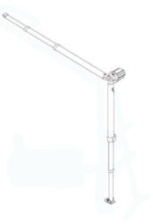 Fiamma F35 Pro Leg and Rafter Assembly - 250 Left Hand