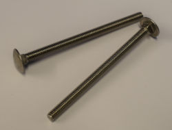 Carriage Bolts Pair - M6 x 90mm