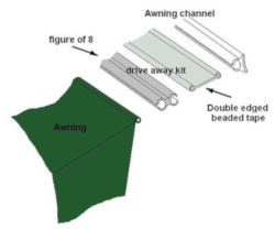 Drive-away Awning Connection Kit XL - 6mm to 4mm