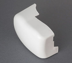 Fiamma F45i - Left Hand Outer End Cap White